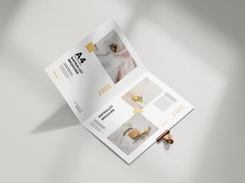 Folded A4 Brochure Mockup design - Rapidalley