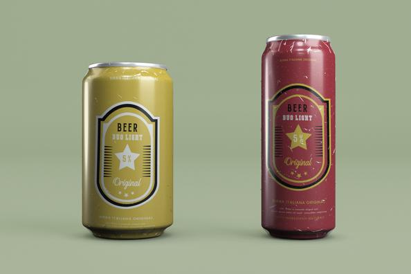 Beer Can Mockup design - Rapidalley