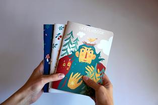 Cover design for sketchbooks