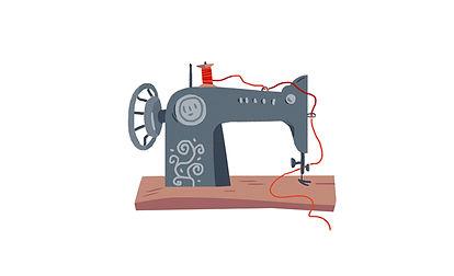 Retro sewing mashine