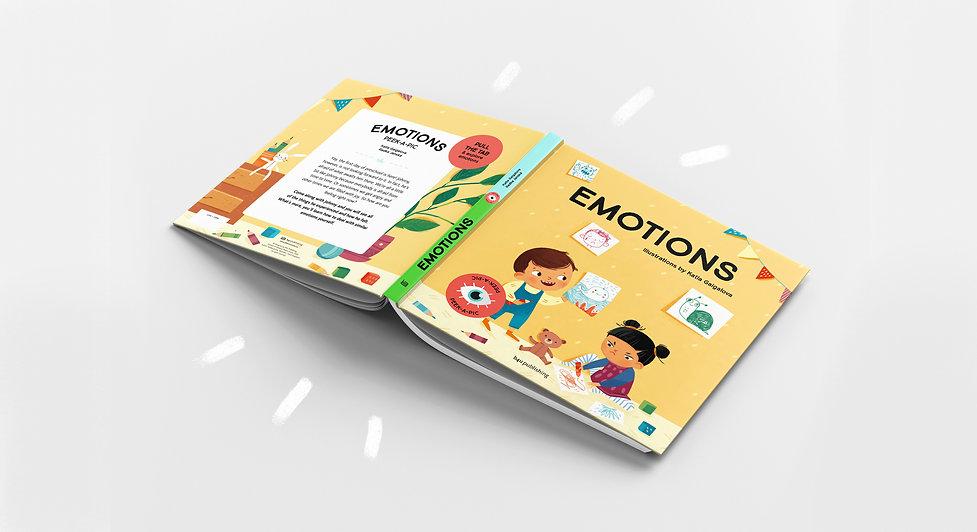 Emotions. Interactive children's book