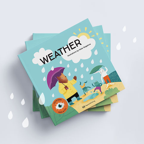 WEATHER children's book with interactive elements