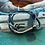 Thumbnail: Leather Back Teal Fish Hook Bracelet