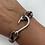 Thumbnail: Leopard Shark Bracelet with Silver Fish Hook
