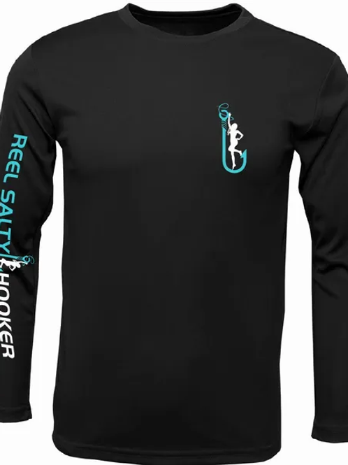 Reel Salty Hooker Black SPF Long Sleeve