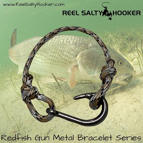 Redfish Bracelet Series Gun Metal Fish Hook