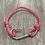 Thumbnail: Pink Shrimp Series Fish Hook Bracelet