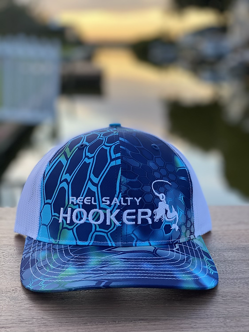Reel Salty Hooker  Kryptek Pontus/White Richardson Hat