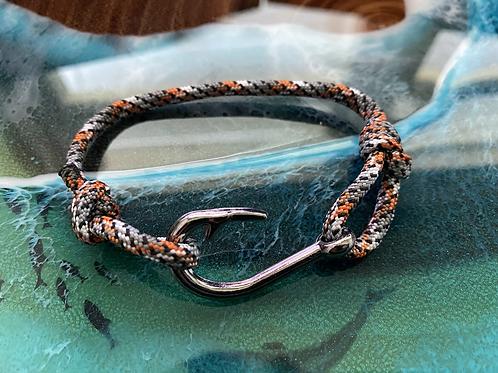 Leopard Shark Bracelet with Gun Metal Fish Hook