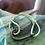 Thumbnail: Leather Back Mint Fish Hook Bracelet