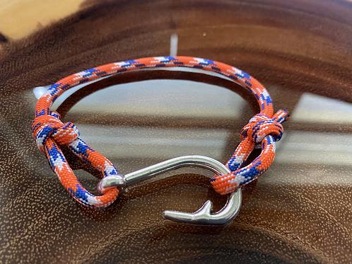 Gator Series Bracelet with Silver Fish Hook
