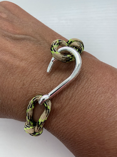 Wahoo Bracelet with Silver Fish Hook