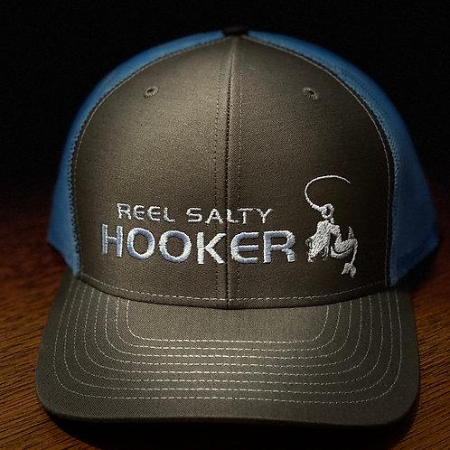 Reel Salty Hooker Charcoal/Columbia Blue Richardson Hat