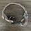 Thumbnail: Leopard Shark Bracelet with Gun Metal Fish Hook