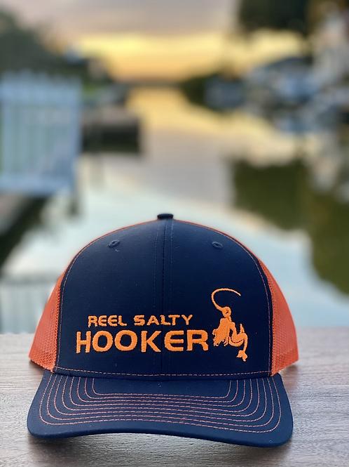 Reel Salty Hooker Navy/Orange Richardson Hat