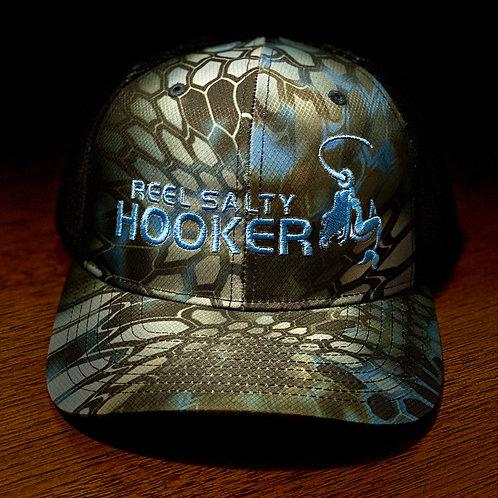 Reel Salty Hooker Kryptek Neptune/Black Richardson Hat