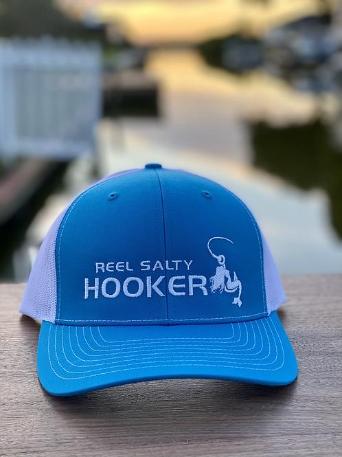 Reel Salty Hooker Cyan/White Richardson Hat