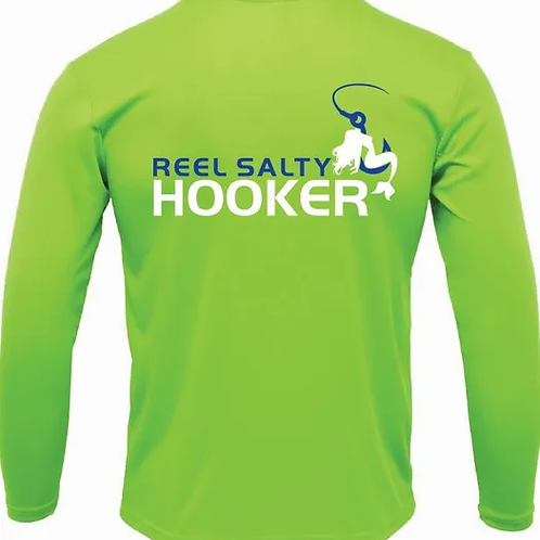 Reel Salty Hooker Lime SPF Long Sleeve