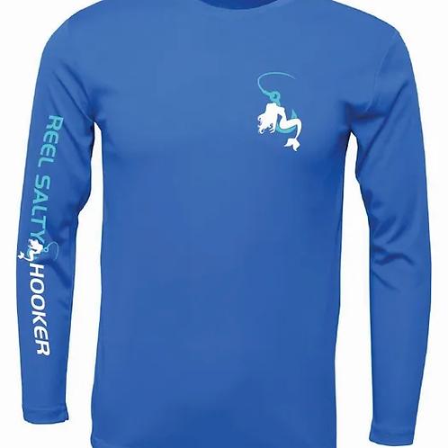 Reel Salty Hooker Electric Blue SPF Long Sleeve