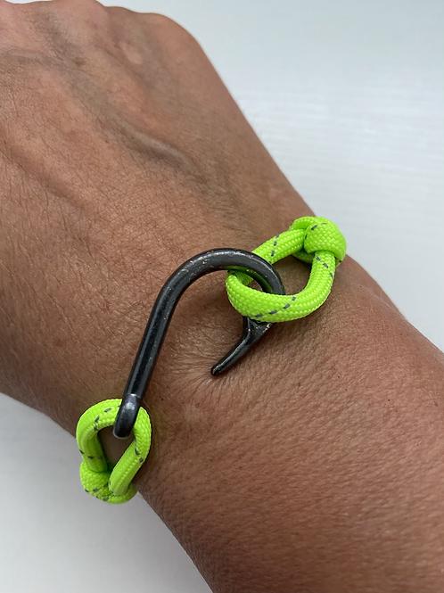 Moray Eel Bracelet with Gun Metal Fish Hook