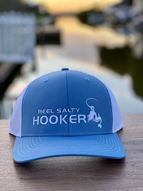 Reel Salty Hooker Columbia Blue/White Richardson Hat
