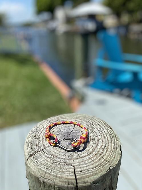 Nole Bracelet with Gun Metal Fish Hook