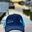 Thumbnail: Reel Salty Hooker Navy/Turquoise Contrast Stitch Trucker Cap