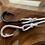 Thumbnail: Leather Back Grey Fish Hook Bracelet