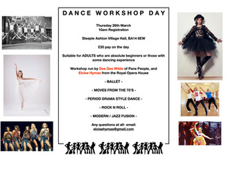 Dance Workshop Day- Thursday 26th March 2020
