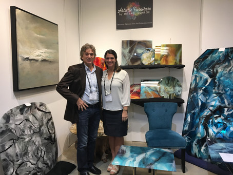 Michael Monroe's artistic tables shown at High Point