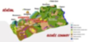 Tipos de paisaje de la RNCD