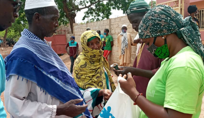 Donación de mascarillas de tela