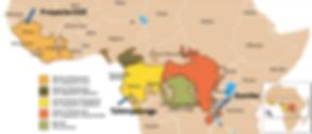 Mapa de África ecuatorial (Figura: IJG Canadá)