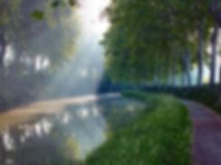 sunlight on Canal de Midi