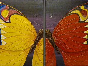 Mirrored butterflies finished