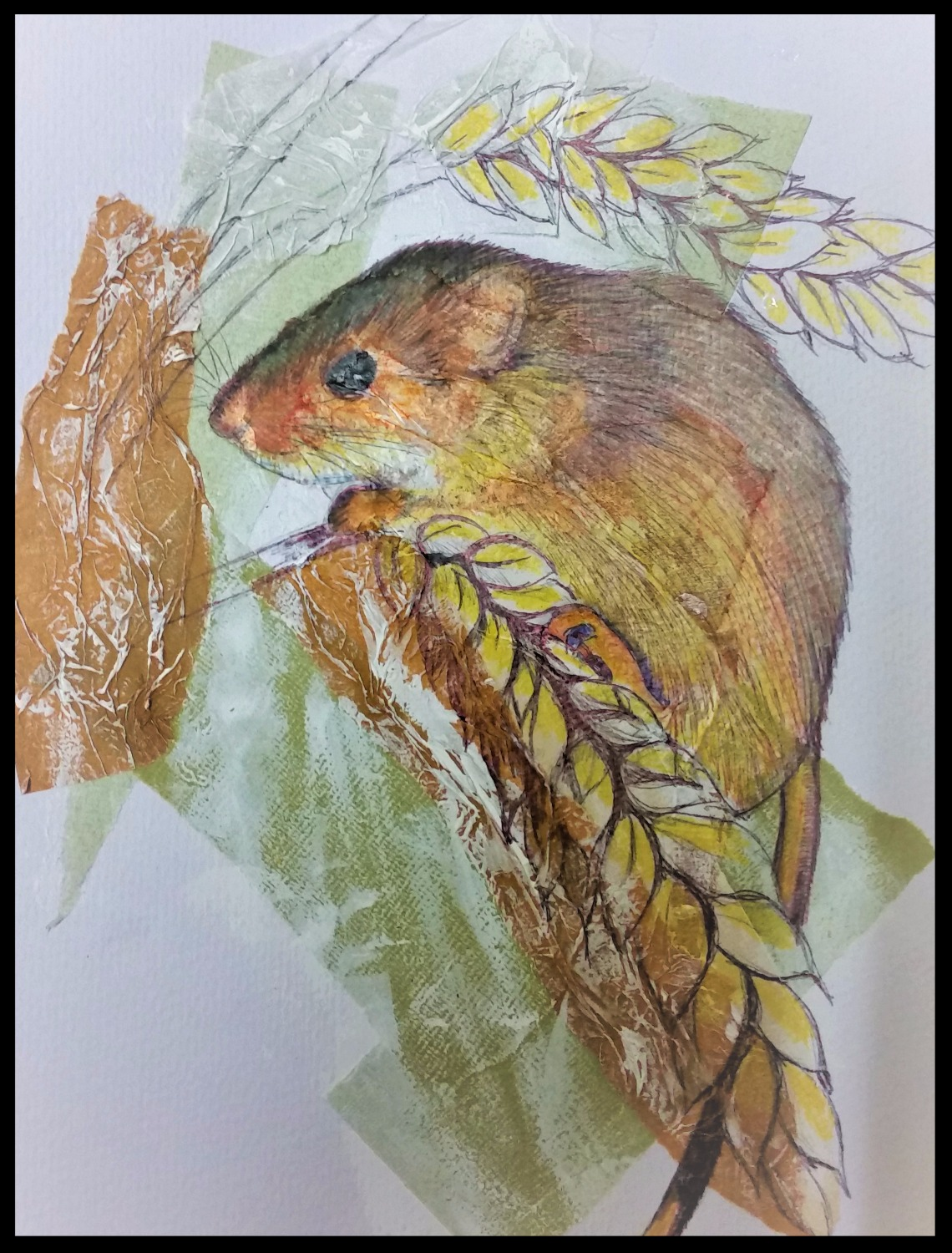 Field Mouse collage