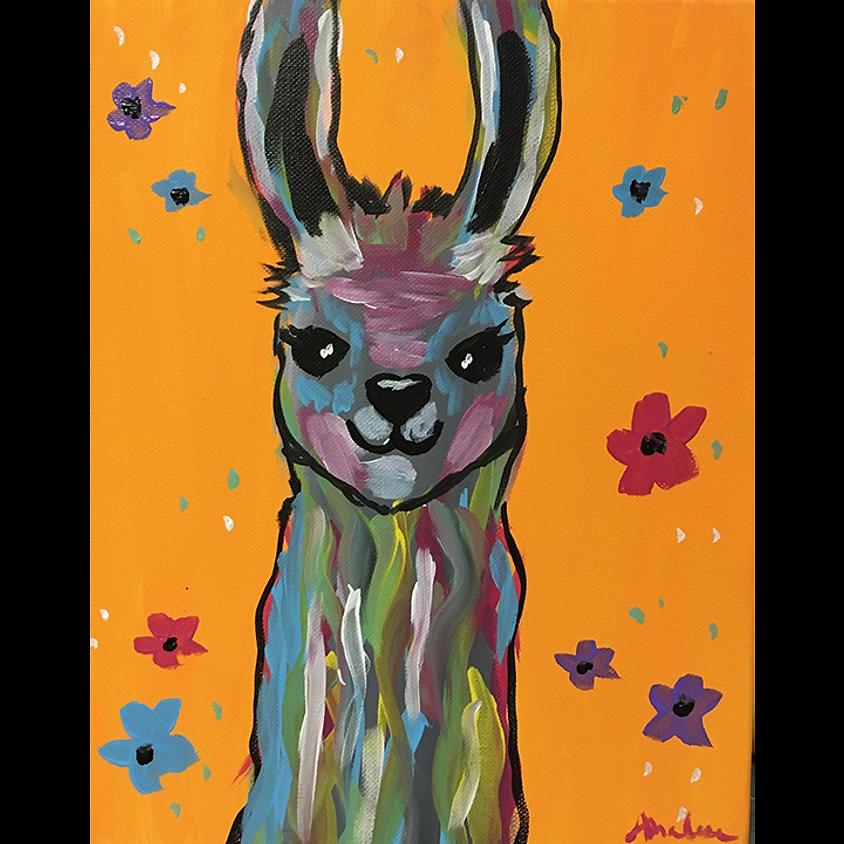 Gogh Kids:  Colorful Llama