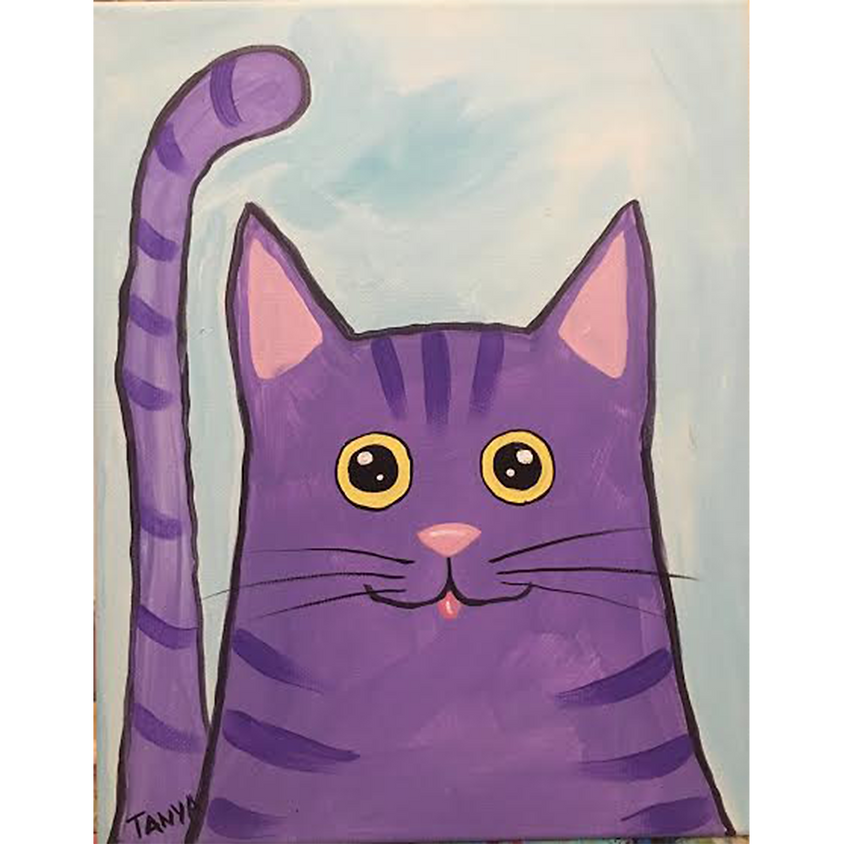 Gogh Kids:  Purple Kitty