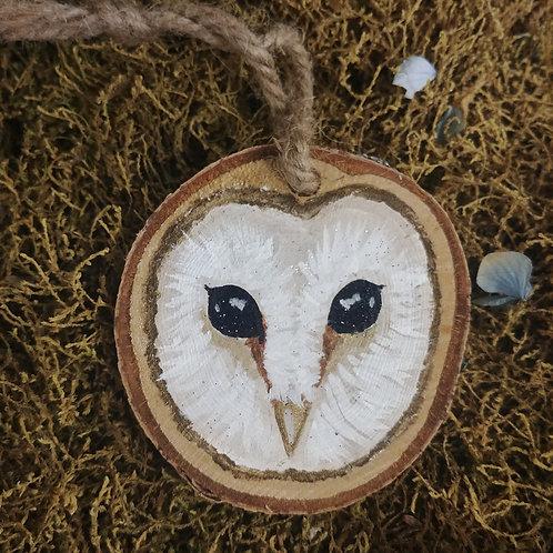 Woodland Barn Owl Ornament