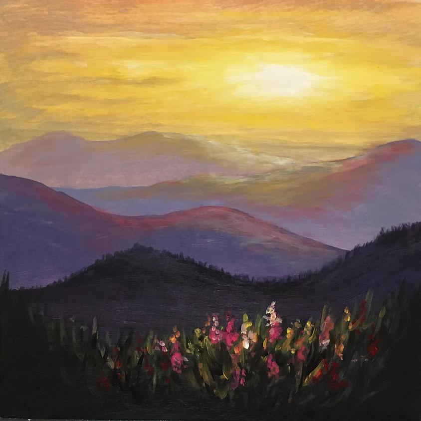 Cascade Sunset at Aloft Hotel