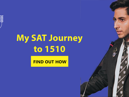 Learn from Haider's SAT Journey to 1510!