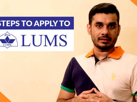 A step-by-step guide on how to apply to LUMS