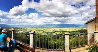 The Stunning view from Citerna