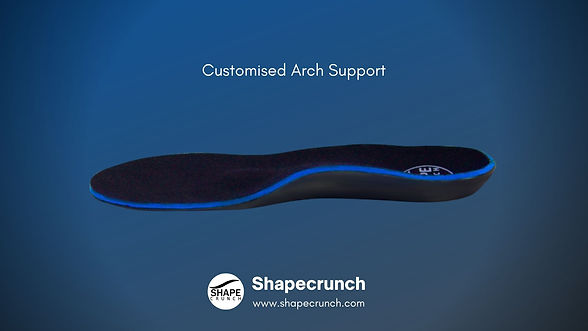 Arch Support Customised Insoles by Shapecrunch