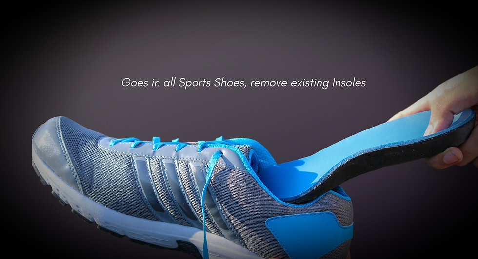 Customised Insoles and Inner Soles by Shapecrunch, Shoe Inserts in Sports shoes, Custom Orthotics made by Shapecrunch