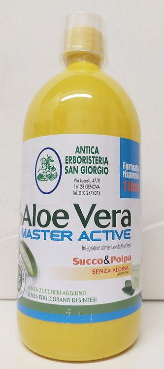 Aloe Vera SUCCO E POLPA SENZA ALOINA (1LITRO)