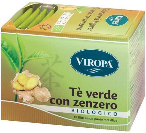 Tè verde con zenzero