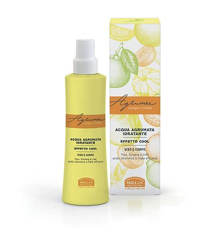 Acqua agrumata idratante effetto cool,spray viso corpo