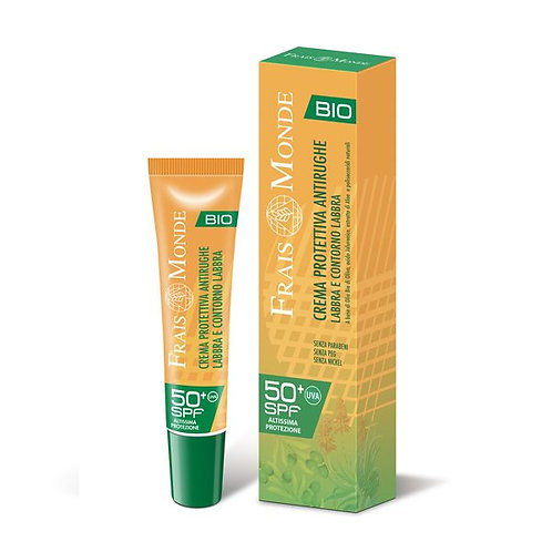 Crema solare protettiva antirughe labbra e contorno labbra spf 50+