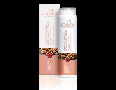 Shampoo delicato per capelli secchi e sfibrati